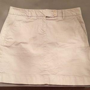 Vineyard Vines Khaki Skirt Cotton Spandex Sz 6